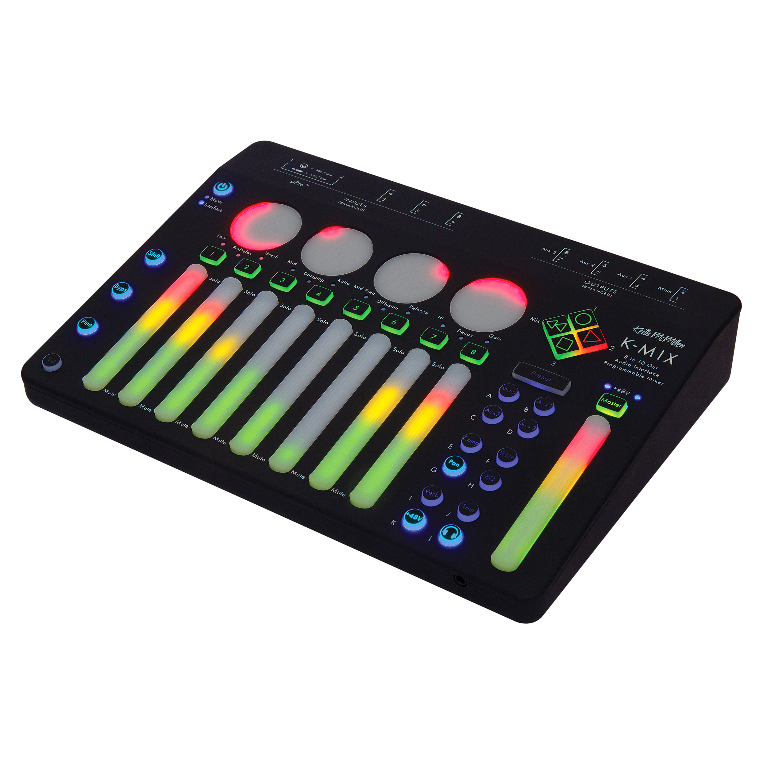 Pearl K-MIX Programmable Mixer, Audio Interface, and Control Surface