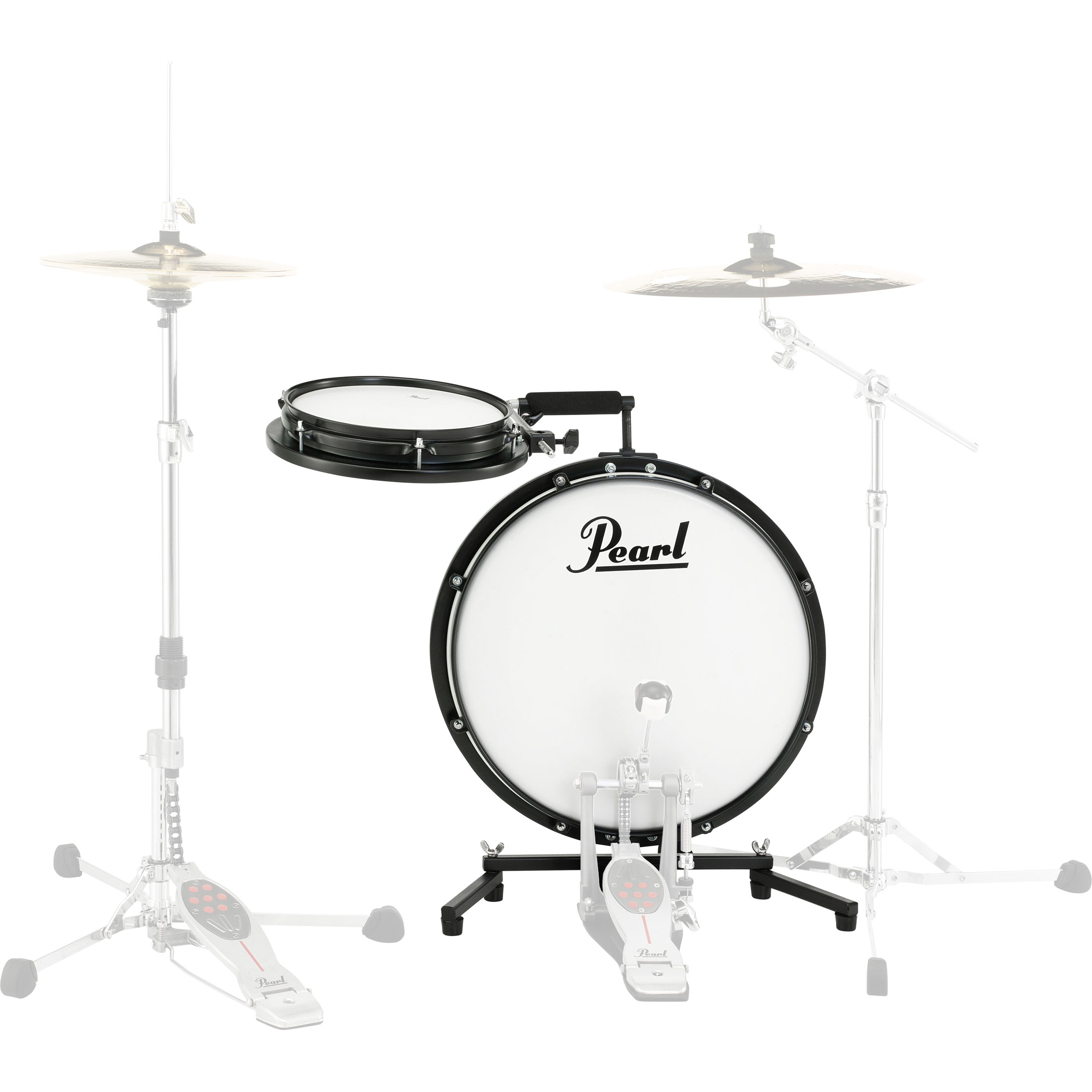 "Pearl Compact Traveler 2-Piece Drum Set (18"" Bass, 10"" Snare)"