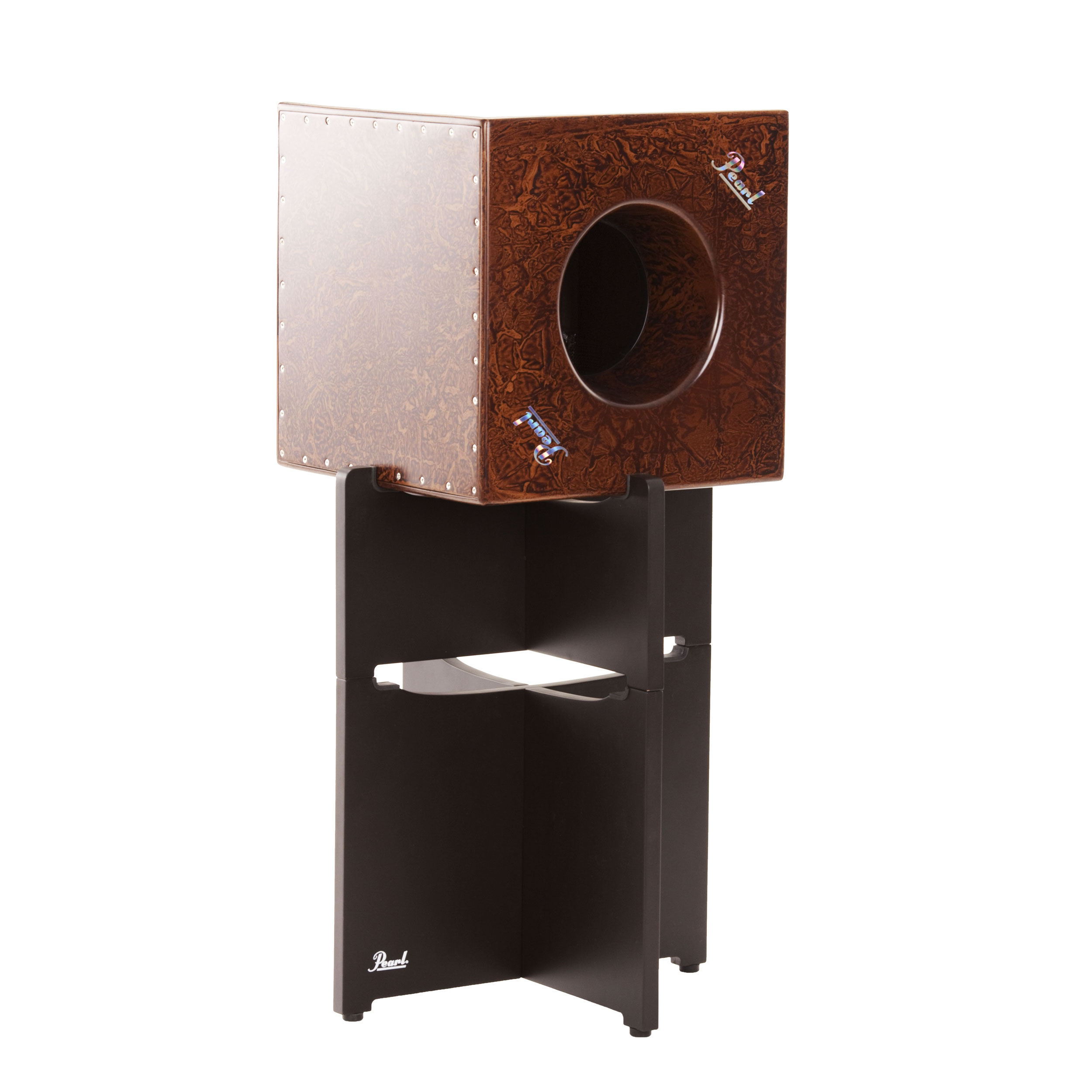 Pearl Cube Cajon with Stand