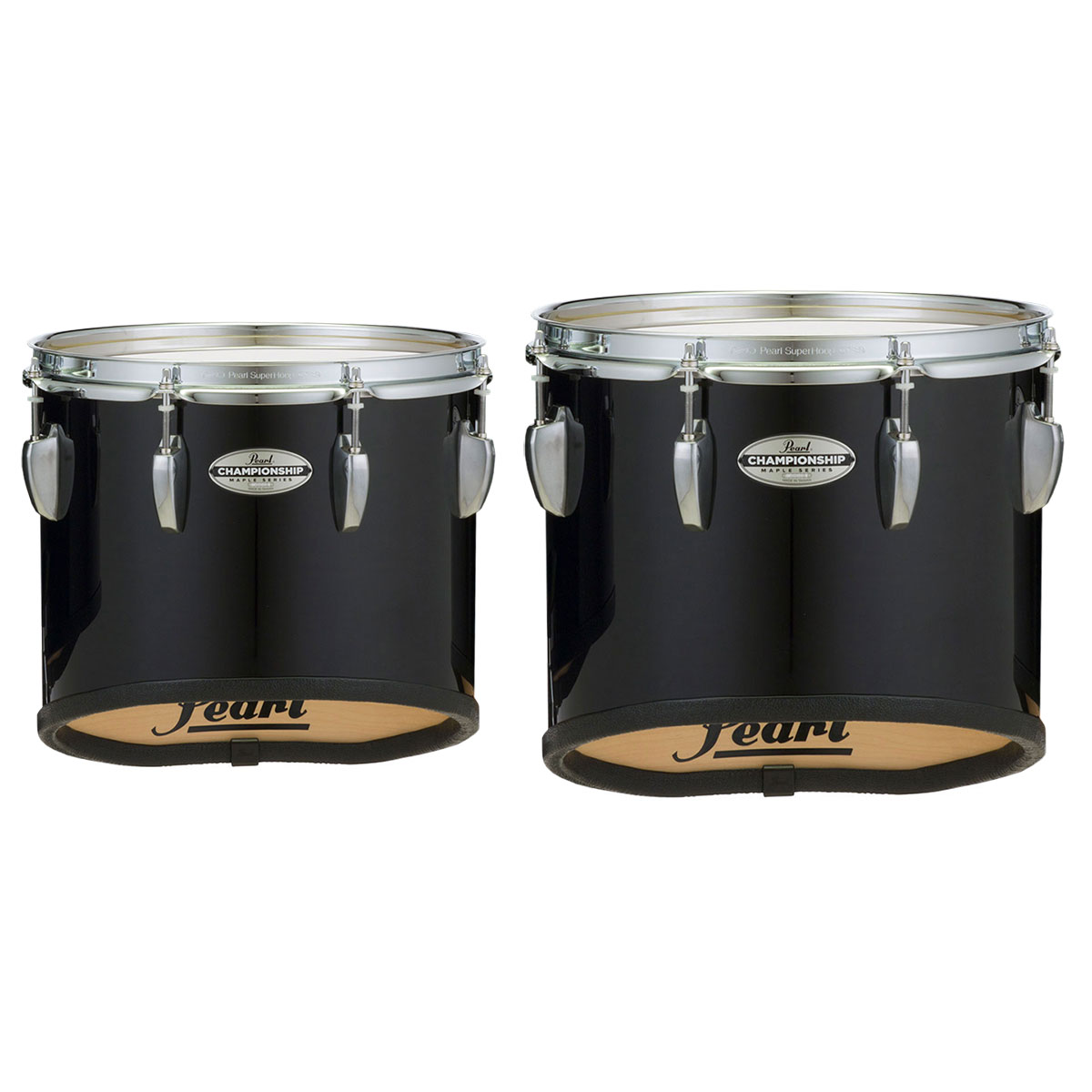 "Pearl 6"" & 8"" PMTM Championship Maple Individual Marching Tenor Drums with Mounting Brackets in Wrap Finish"