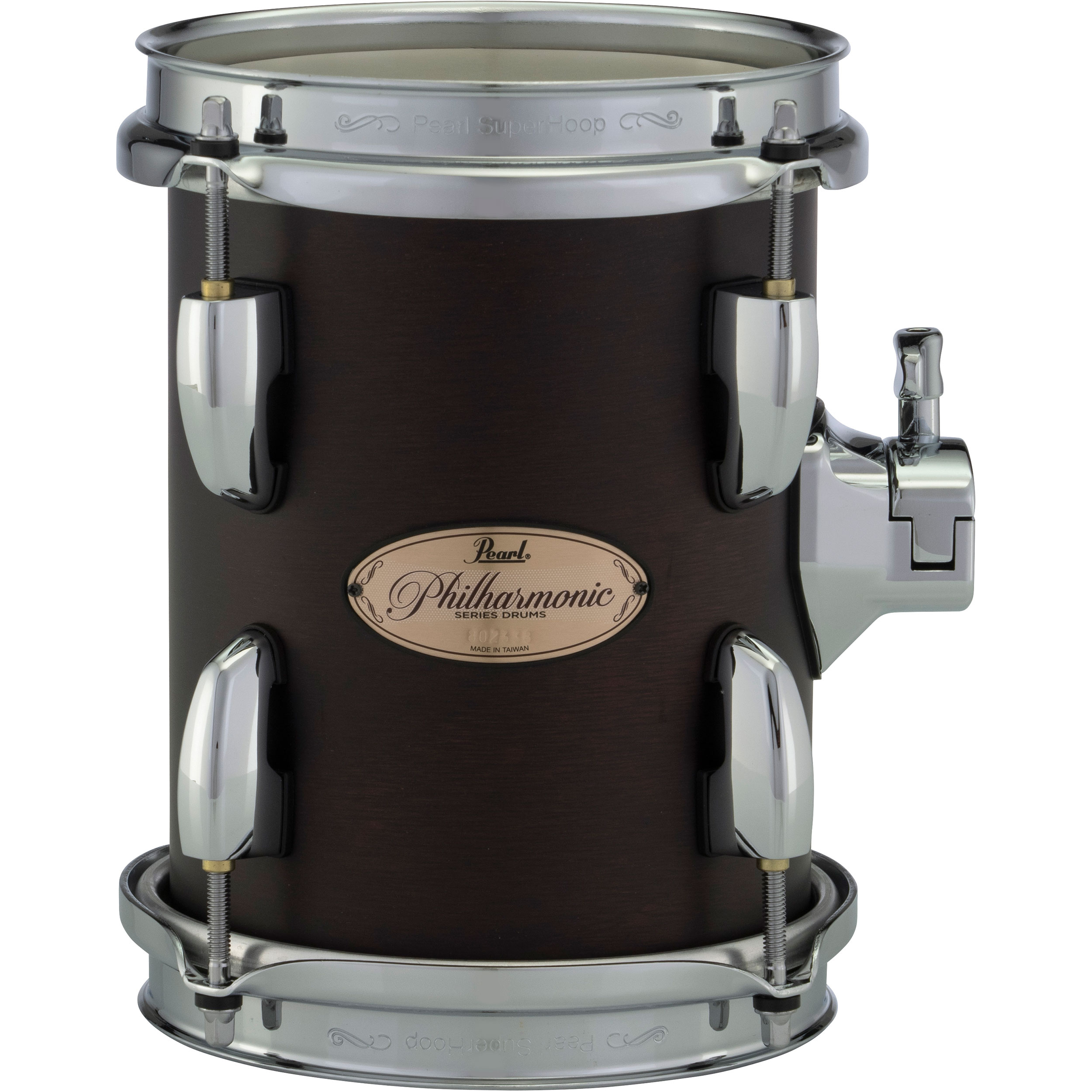 "Pearl 6"" (Diameter) x 8"" (Deep) Philharmonic Mahogany Double-Headed Concert Tom"