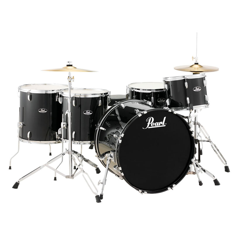 """Pearl Roadshow """"One Up Two Down"""" 5-Piece Drum Set with Hardware and Cymbals (22"""" Bass, 12/14/16"""" Toms, 14"""" Snare)"""