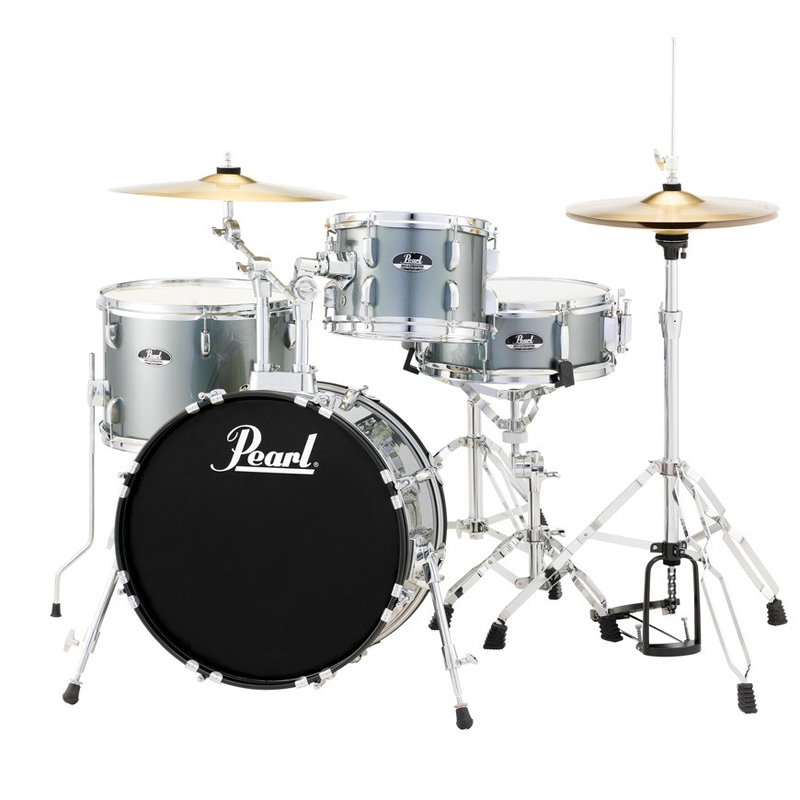 "Pearl Roadshow ""Bop"" 4-Piece Drum Set with Hardware and Cymbals (18"" Bass, 10/14"" Toms, 13"" Snare)"