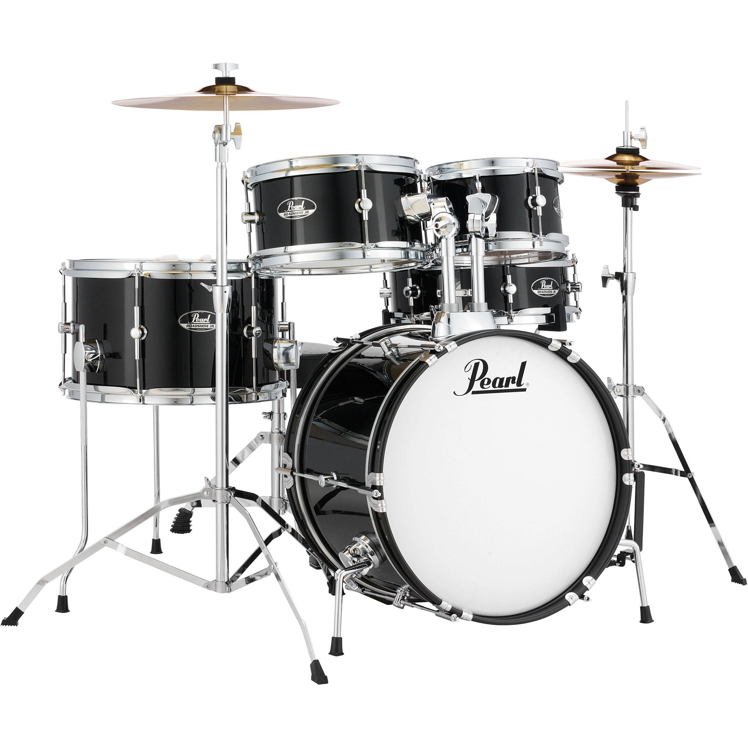 pearl roadshow jr 5 piece drum set with hardware and cymbals 16 bass 8 10 13 toms 12 snare. Black Bedroom Furniture Sets. Home Design Ideas