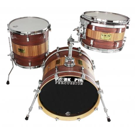 Pork Pie Percussion USA Bop 3-Piece Drum Set Shell Pack (18