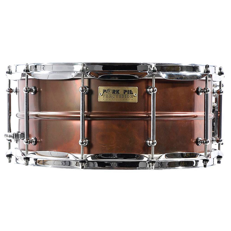 "Pork Pie 6.5"" X 14"" Brass Snare Drum with ""Pork Rub"" Finish"