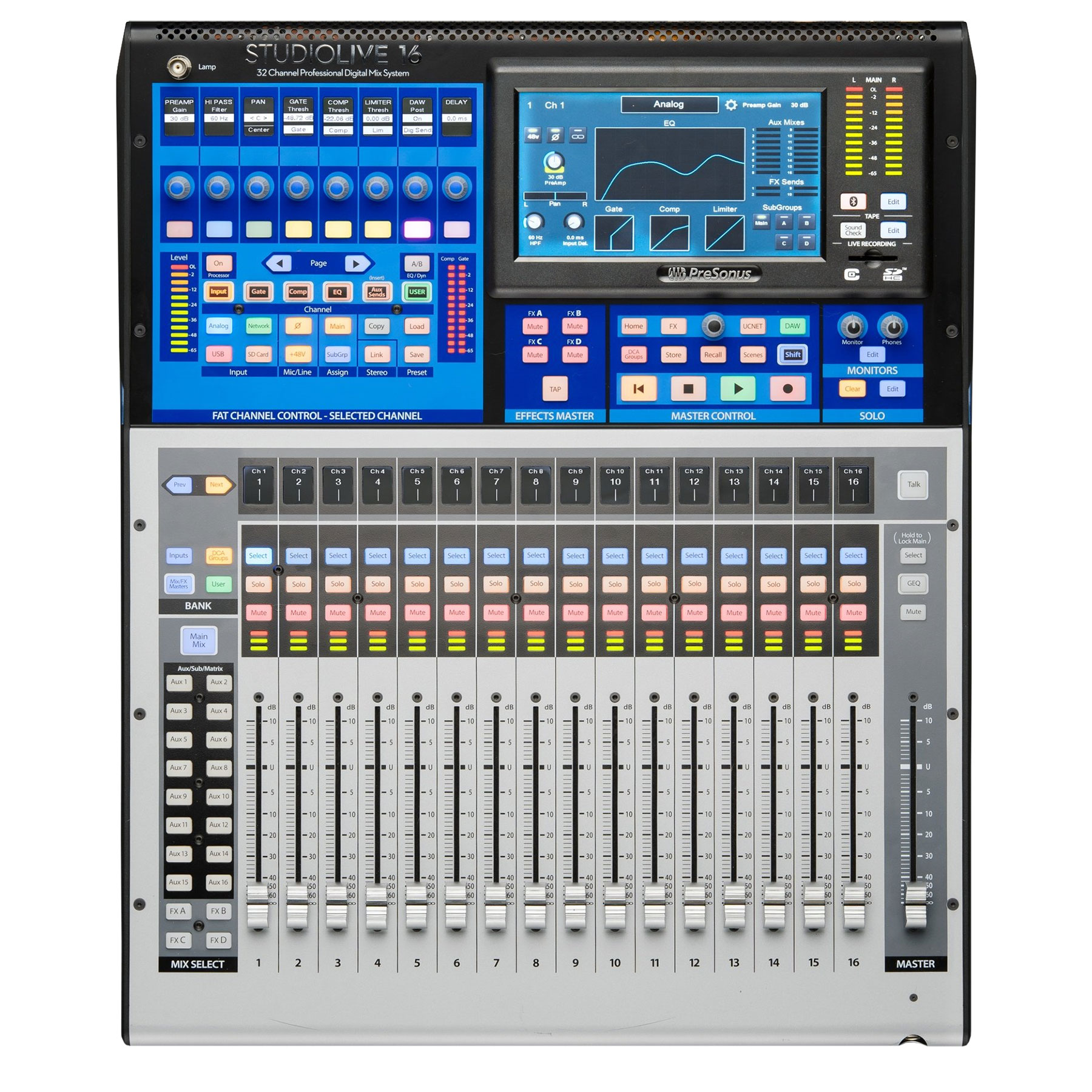 PreSonus 16-Channel Digital Mixer with Touch-Sensitive Moving Faders