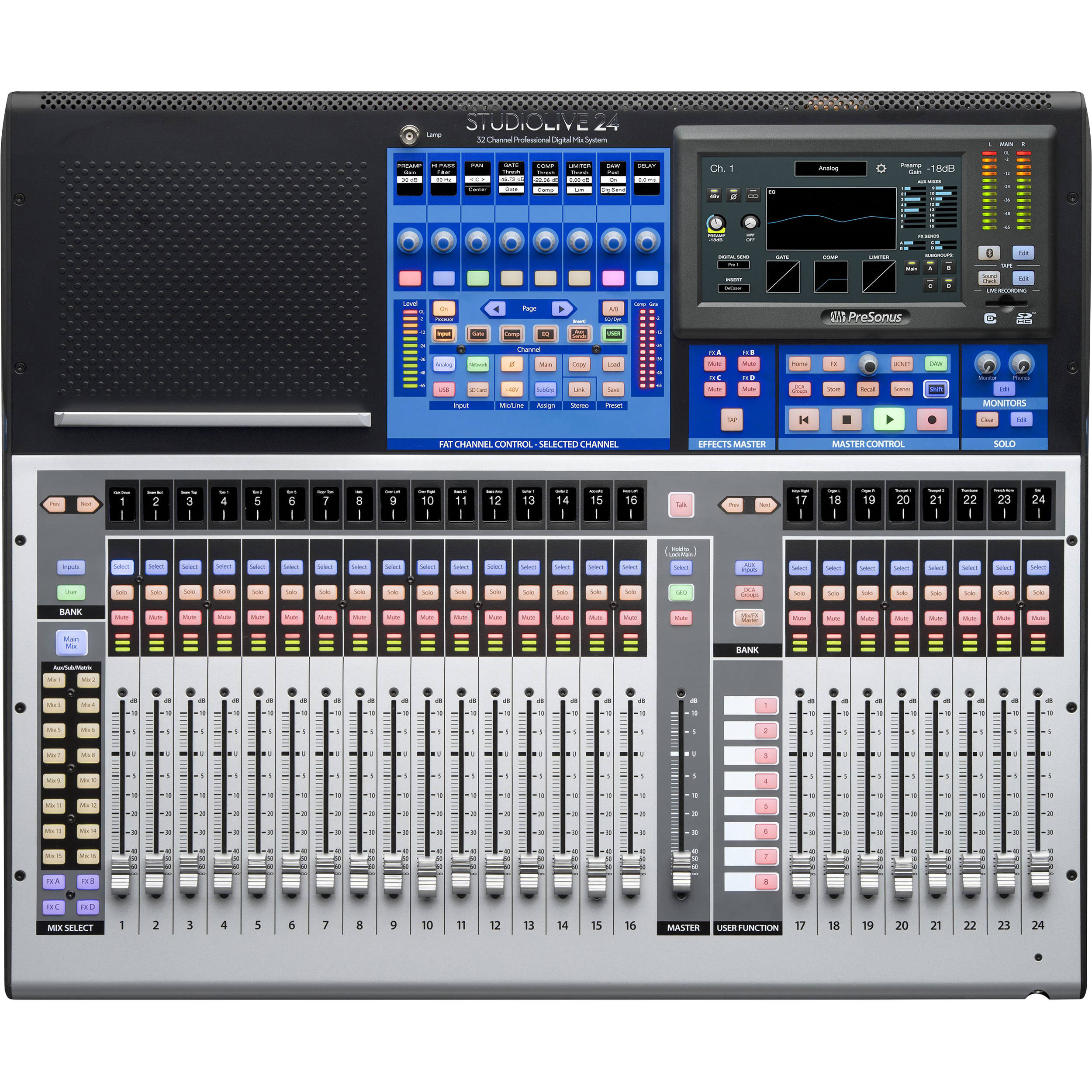 PreSonus 24-Channel Digital Mixer with Touch-Sensitive Moving Faders