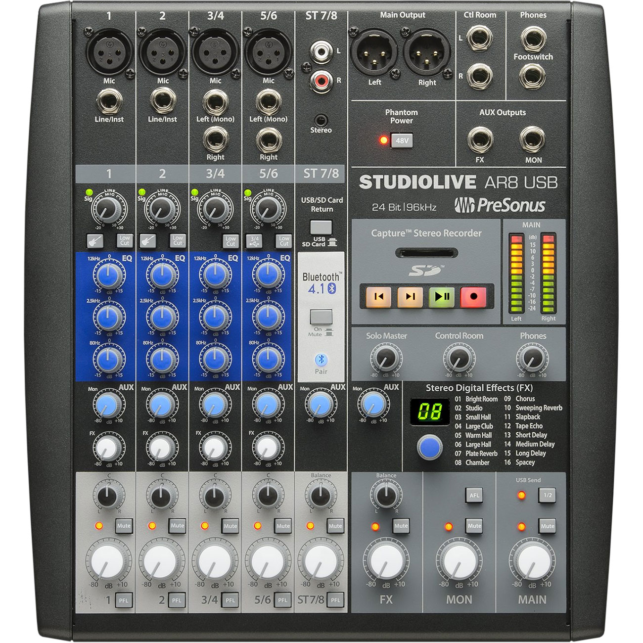PreSonus 8-Channel Hybrid Digital/Analog Performance Mixer