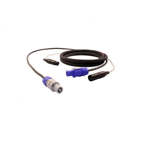 Pro Co 50' Power on Grey to Power on Blue Cable (XLR-F to XLR-M)