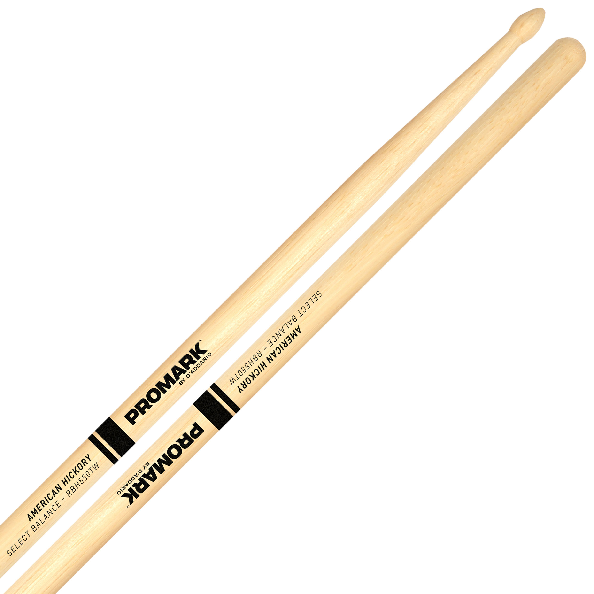 "Promark Rebound 5A (.550"") Hickory Drumsticks with Teardrop Wood Tips"