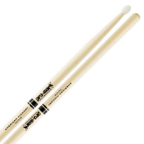 Promark American Hickory 747 Nylon Tip Rock Drumsticks