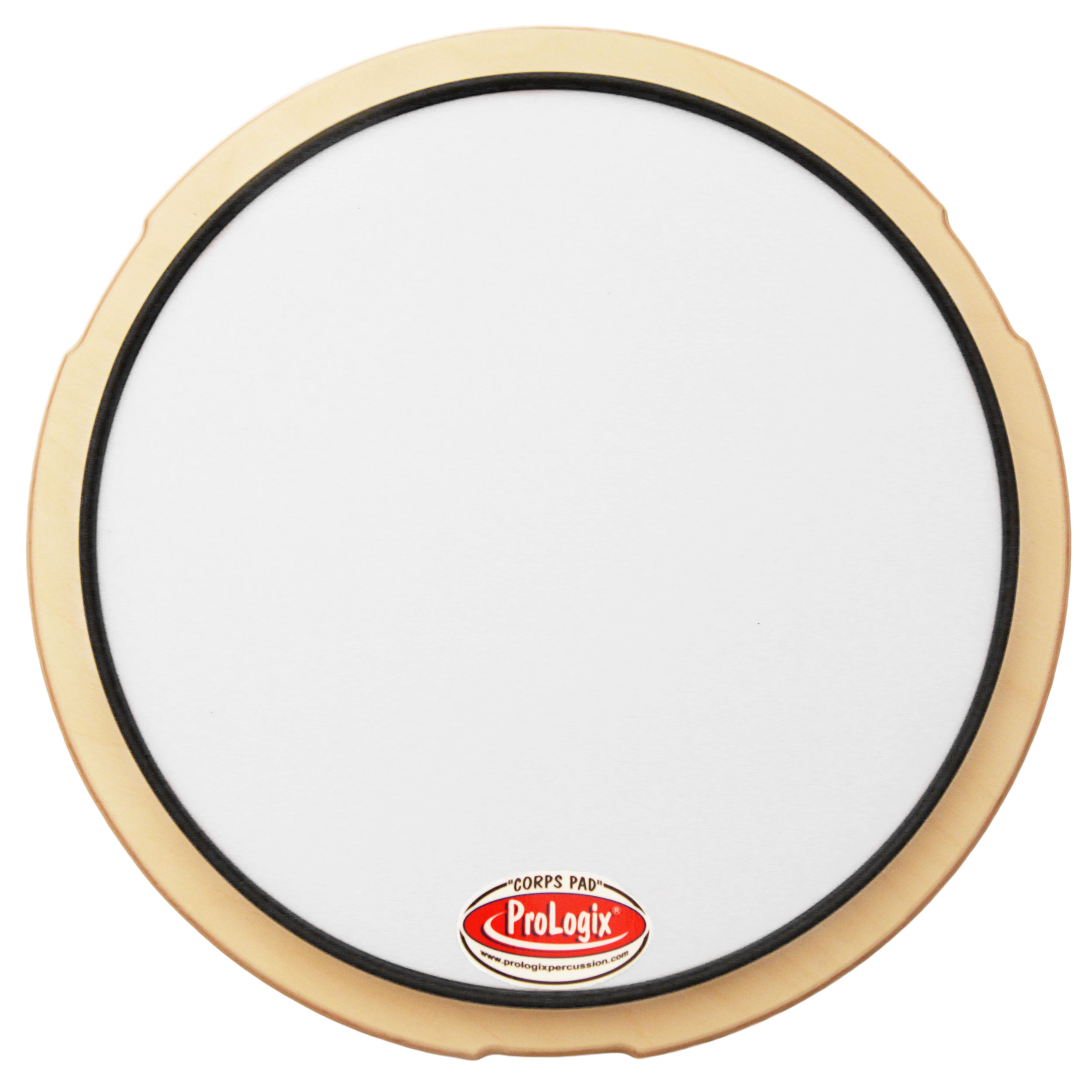 prologix percussion 12 white corps snare drum practice pad pxwcorps12. Black Bedroom Furniture Sets. Home Design Ideas