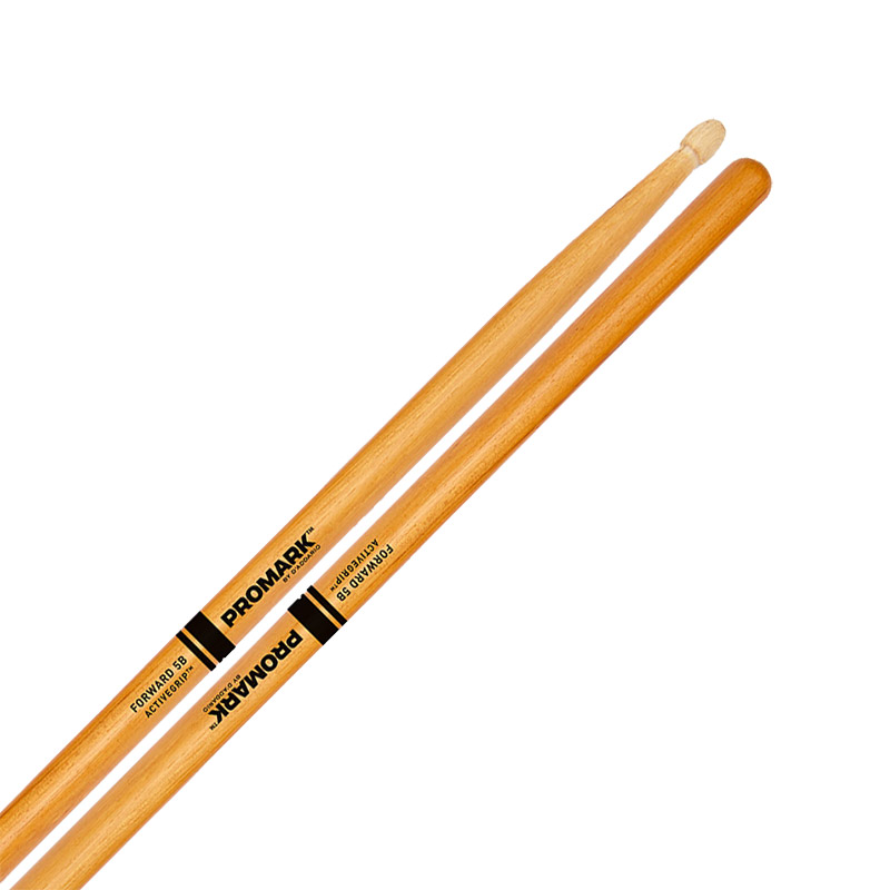 Promark Forward 5B ActiveGrip Clear Drum Sticks with Acorn Tips
