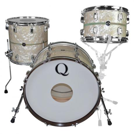 Q Drum Co. Maple 3-Piece Drum Set Shell Pack (20