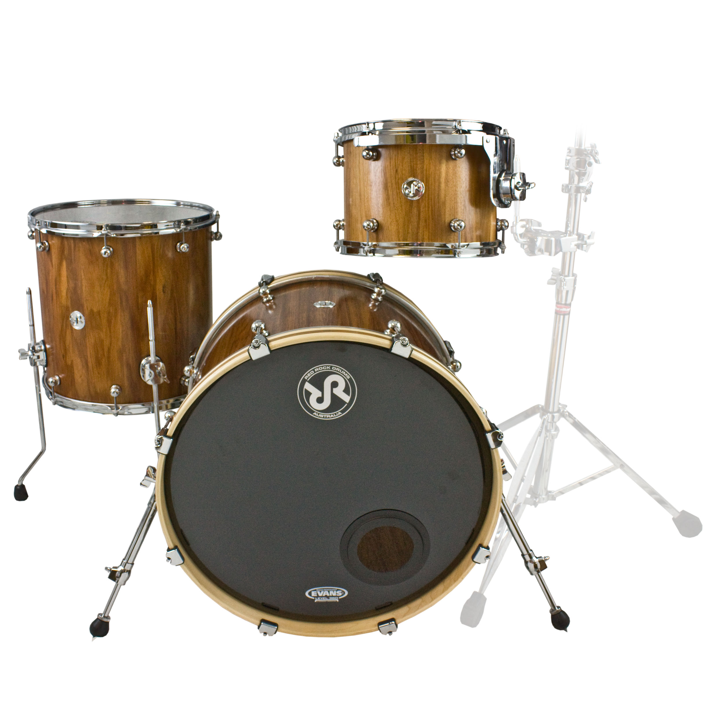 "Red Rock Drums Tasmanian Blackwood 3-Piece Drum Set Shell Pack (22"" Bass, 12/16"" Toms)"