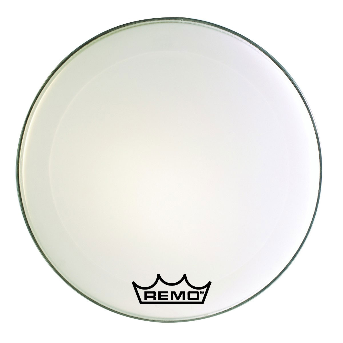 "Remo 24"" Emperor Smooth White Crimplock Marching Bass Drum Head"