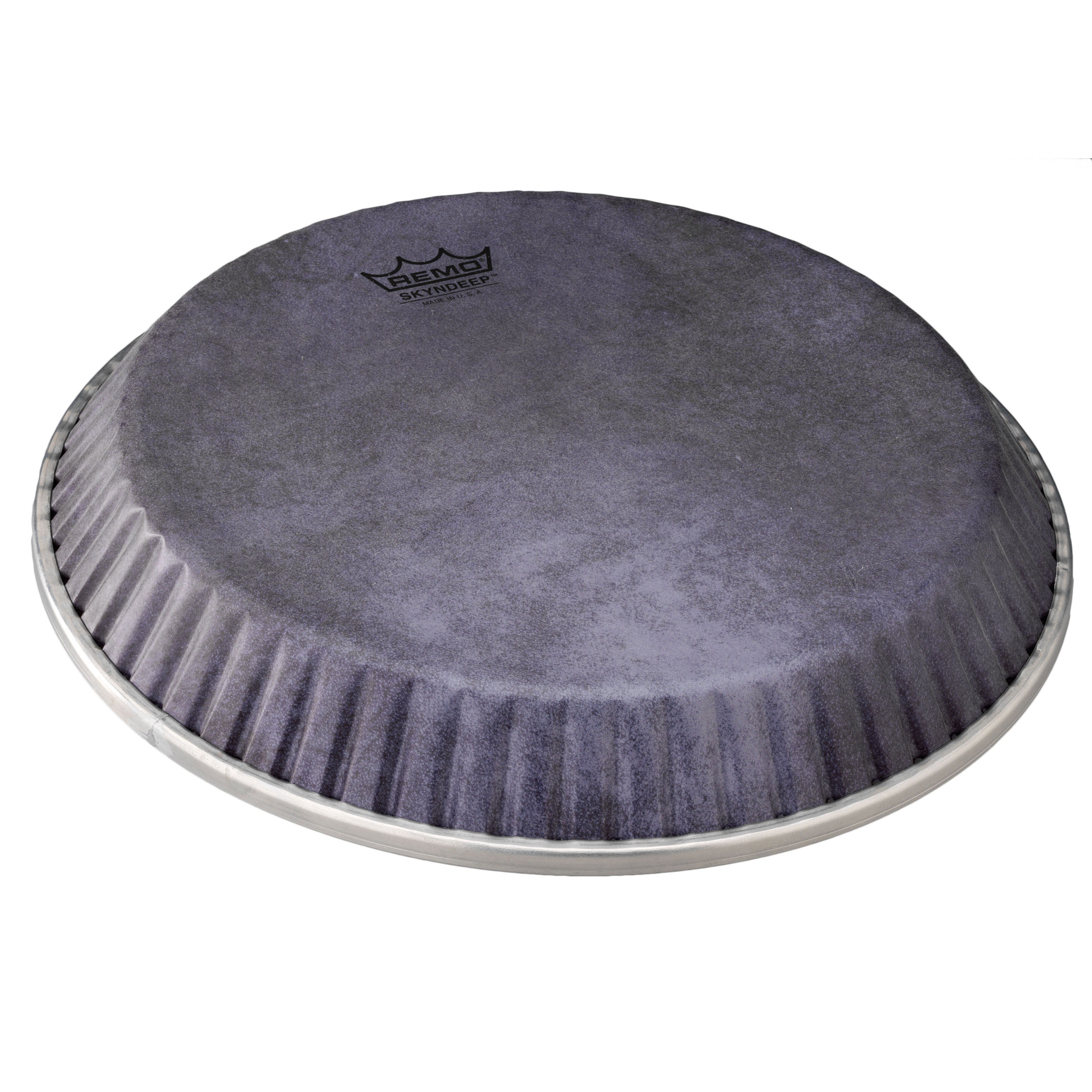 """Remo 11.06"""" Symmetry Skyndeep Conga Drum Head (D1 Collar) with Black Calfskin Graphic"""