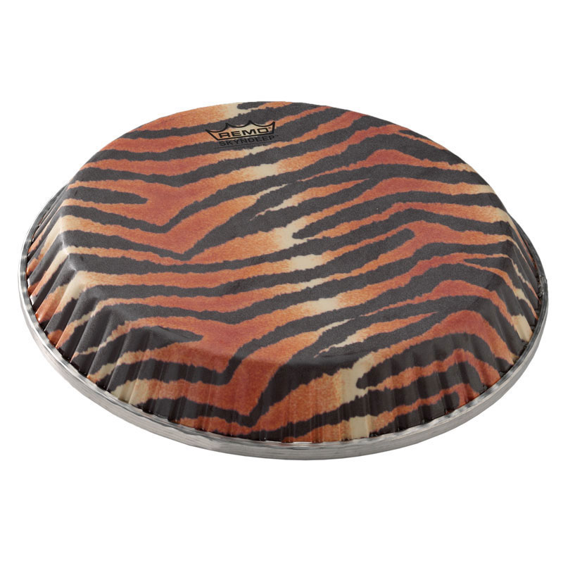 "Remo 11.06"" Symmetry Skyndeep Conga Drum Head (D2 Collar) with Tiger Stripe Graphic"