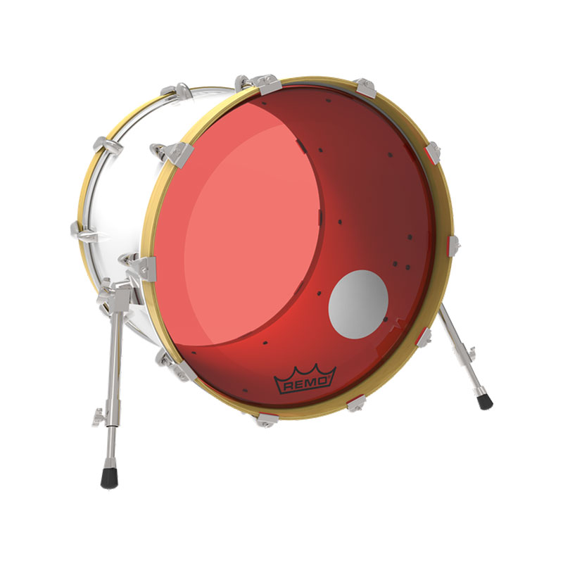 remo 26 powerstroke p3 colortone red bass drum head with 5 offset hole p3 1326 ct rdoh. Black Bedroom Furniture Sets. Home Design Ideas