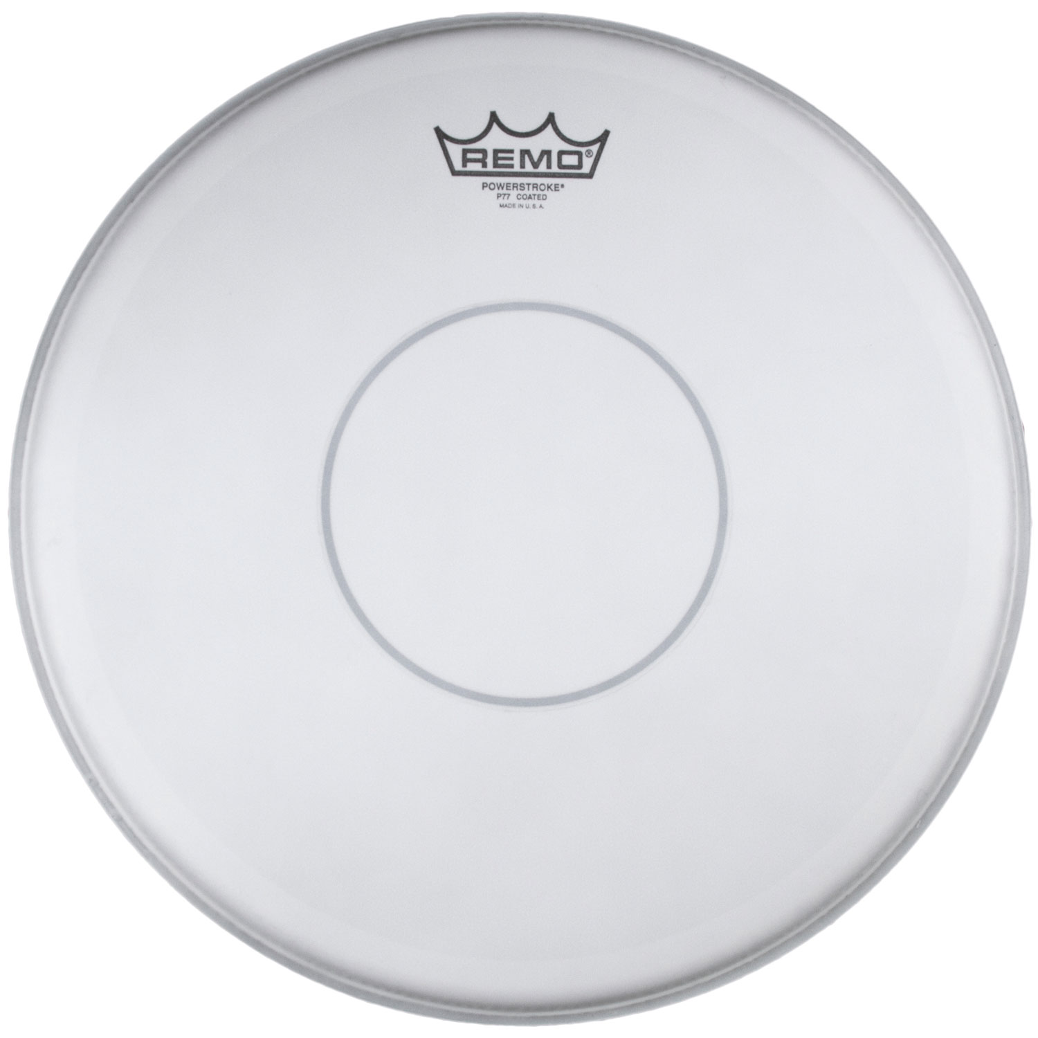 "Remo 14"" Powerstroke 77 Coated Drum Head with Clear Dot"
