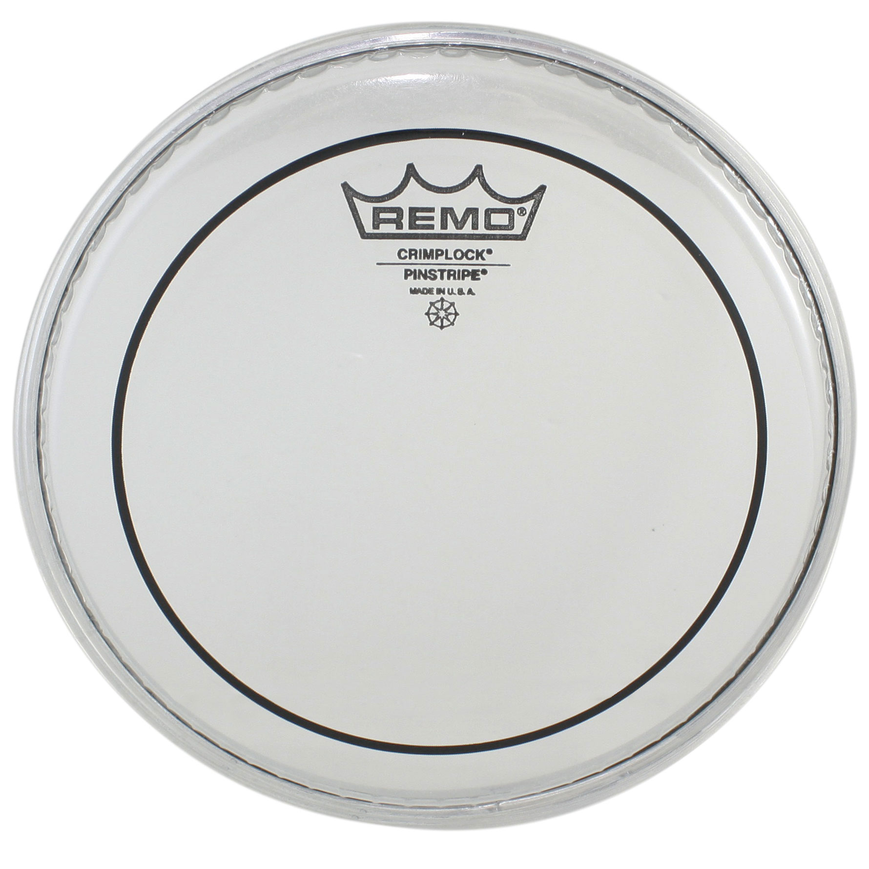 "Remo 10"" Pinstripe Clear Crimplock Marching Tenor Drum Head"
