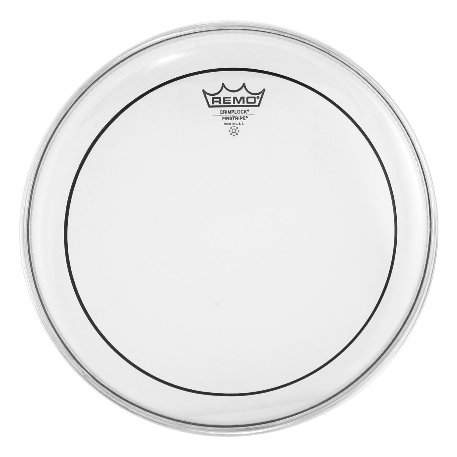 "Remo 14"" Pinstripe Clear Crimplock Marching Tenor Drum Head"