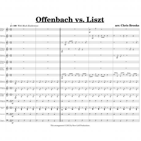 Offenbach vs. Liszt arr. Chris Brooks