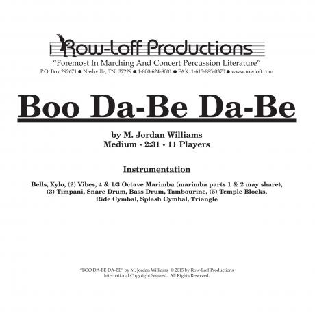 Boo Da-Be Da-Be by M. Jordan Williams