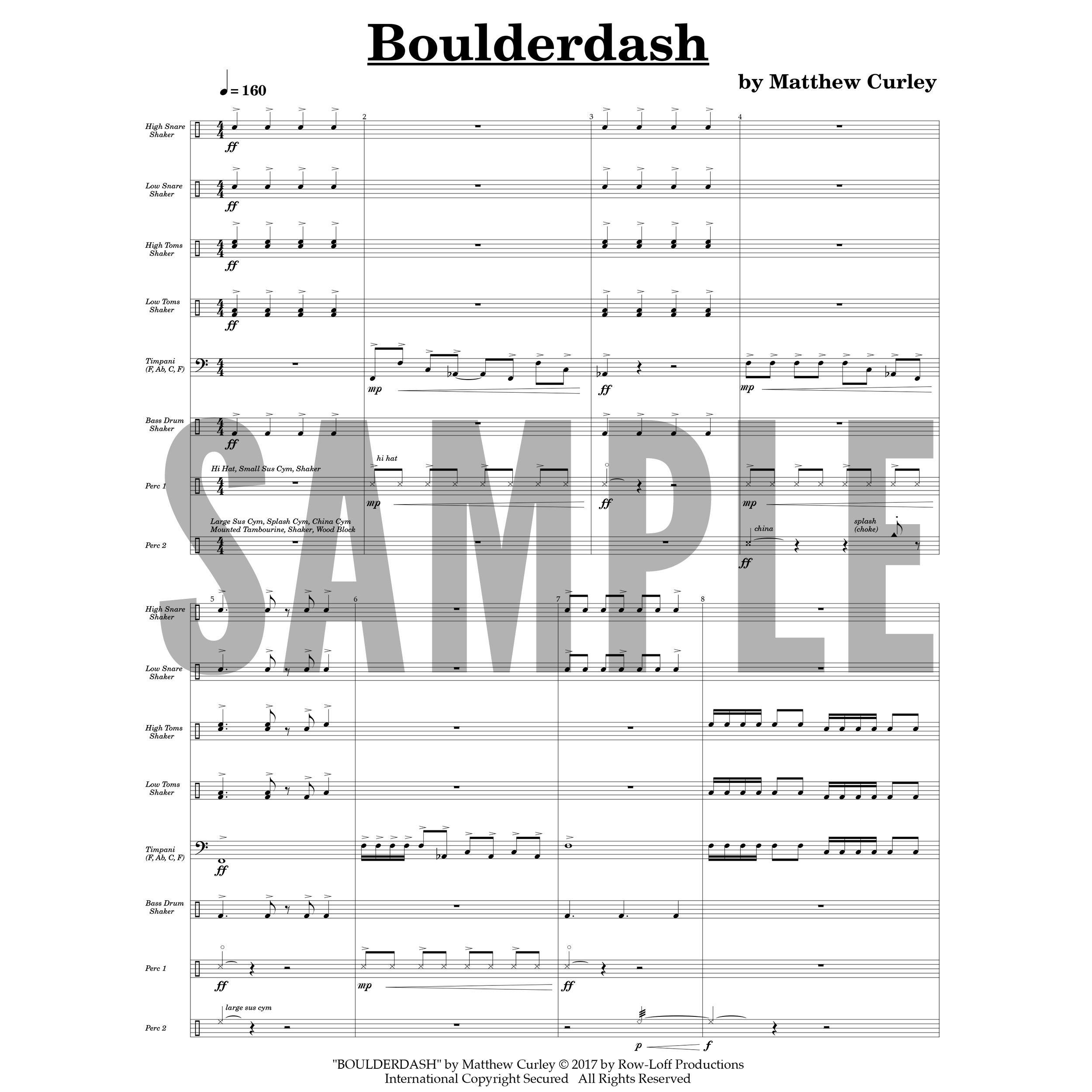 Boulderdash by Matthew Curley
