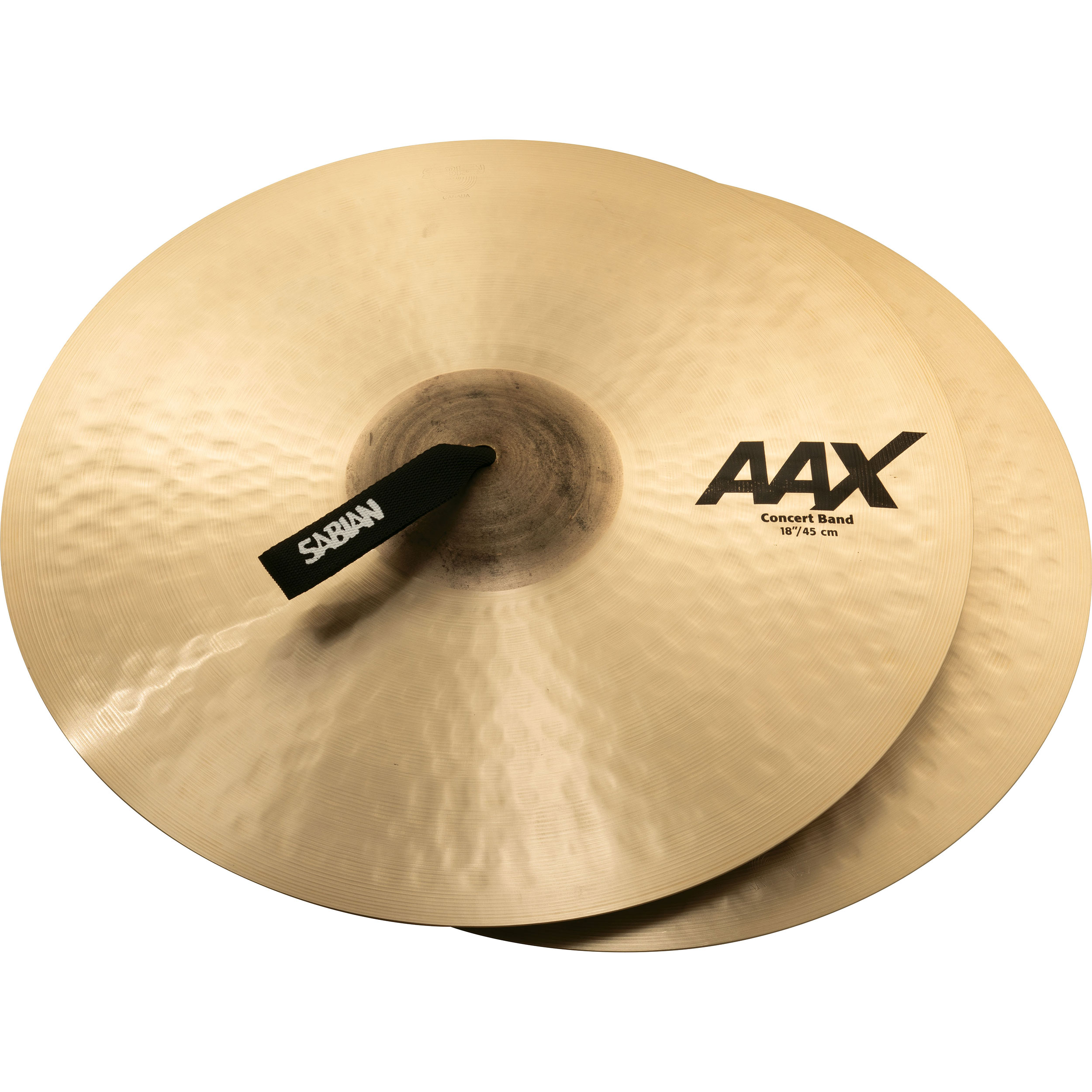 "Sabian 18"" AAX Concert Band Crash Cymbal Pair"
