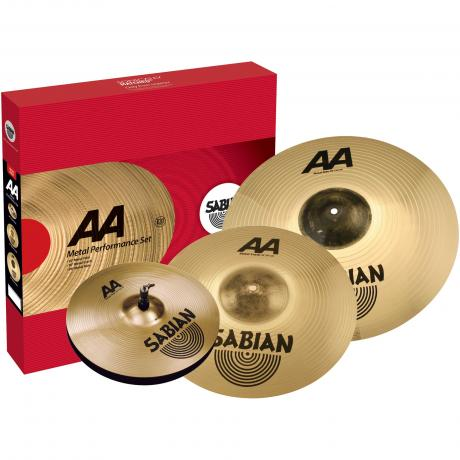 Sabian AA Metal Performance Pack 3-Piece Cymbal Box Set (Hi Hats, Crash, Ride)