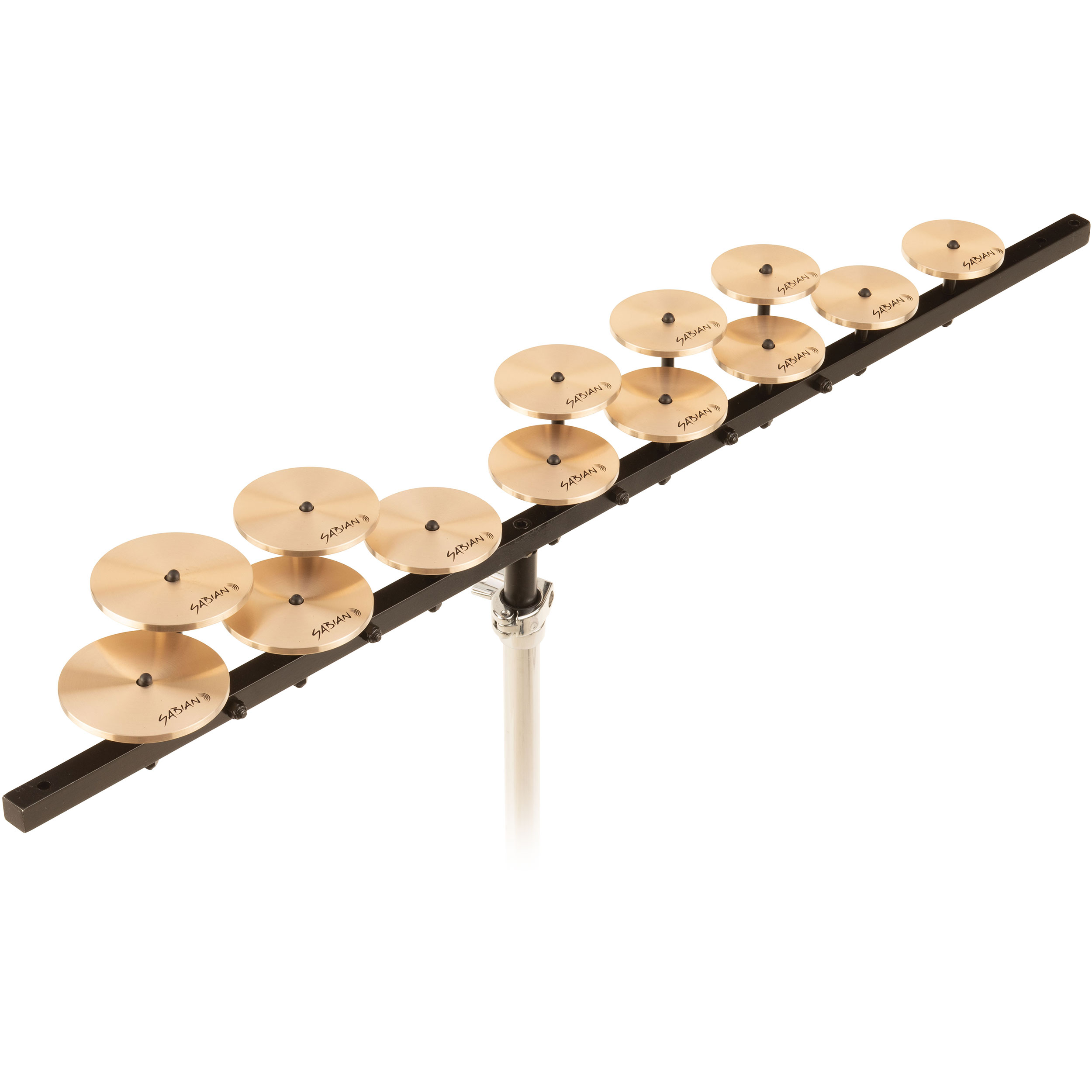 Sabian High Octave Crotale Set with Bar and Stand