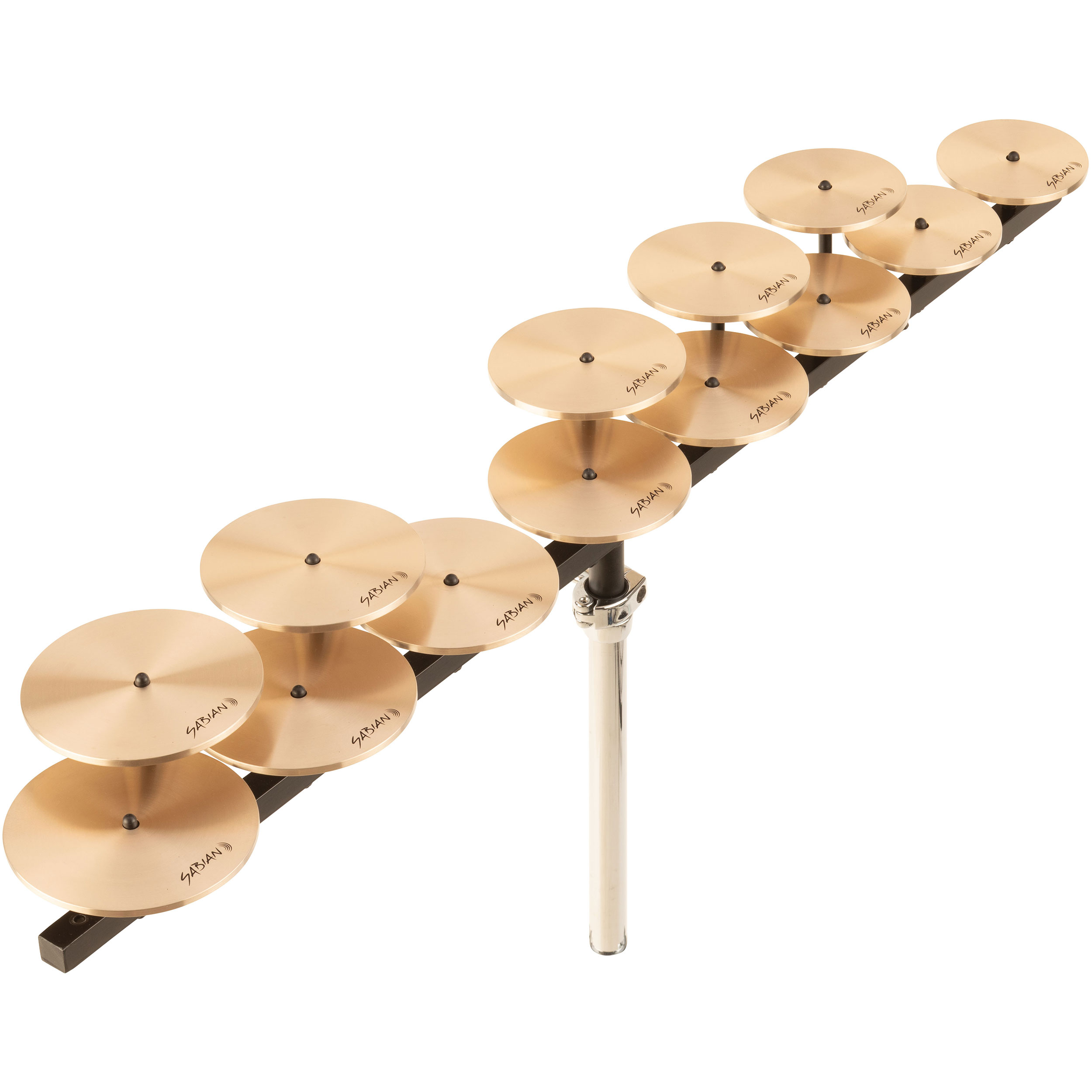 Sabian Low Octave Crotale Set with Bar and Stand