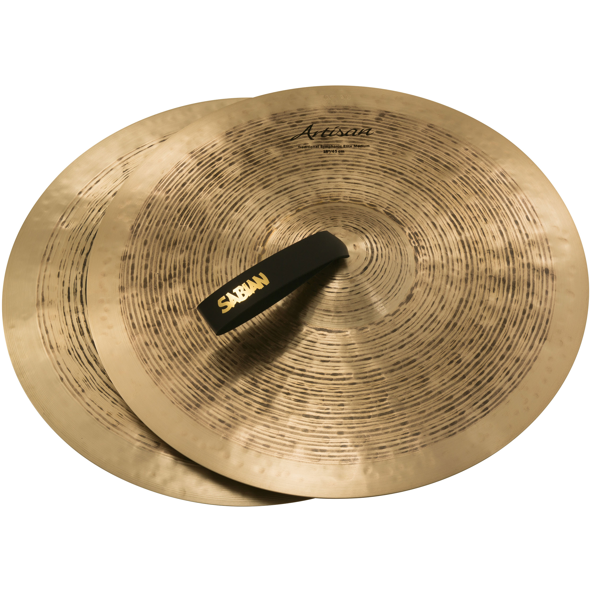 "Sabian 18"" Artisan Traditional Symphonic Elite Medium Crash Cymbal Pair"