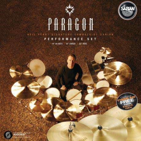 Sabian Paragon Neil Peart Performance Pack 3-Piece Cymbal Box Set (Hi Hats, Crash, Ride)