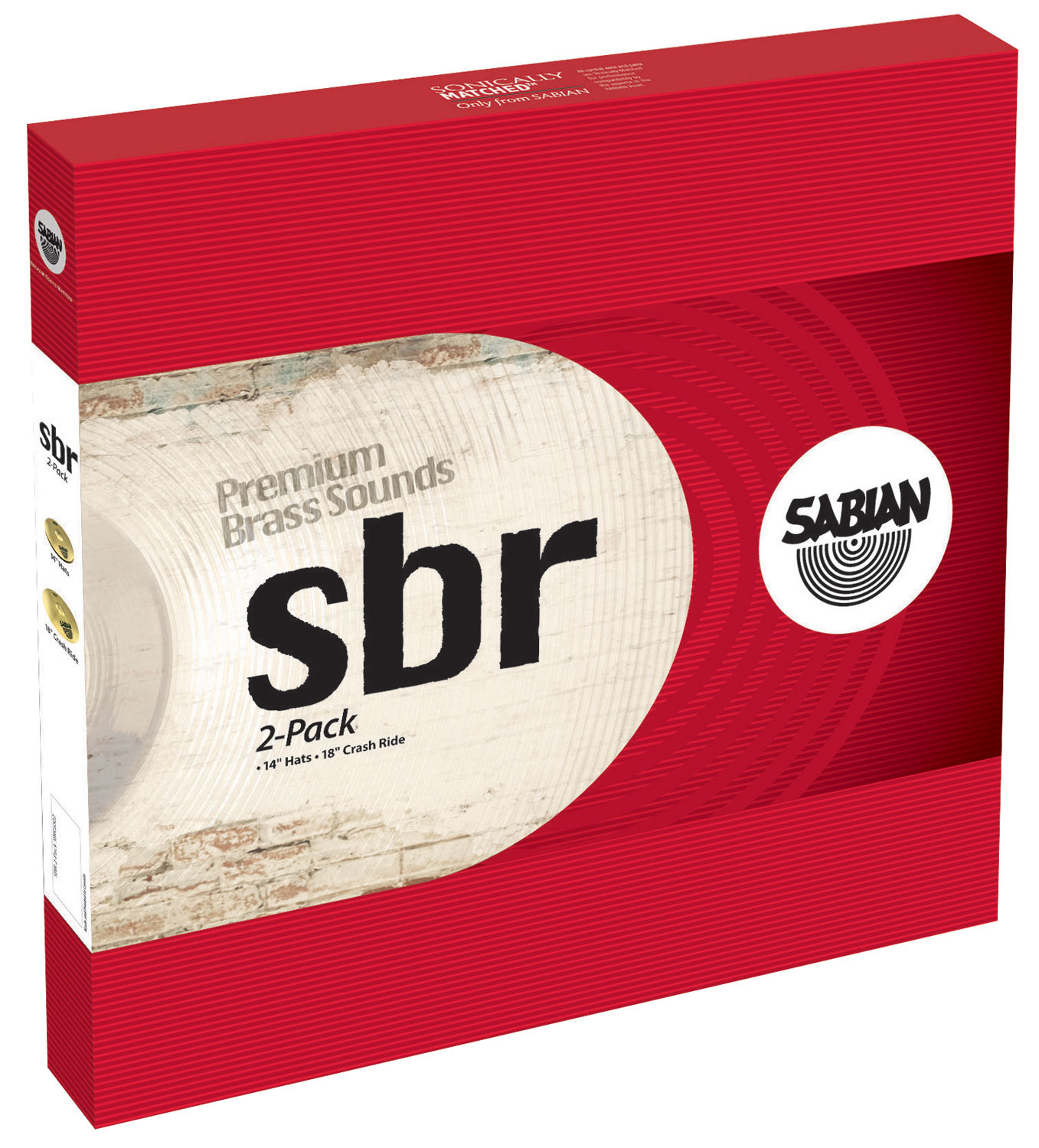 Sabian SBR 2-Pack 2-Piece Cymbal Box Set (Hi Hats, Crash/Ride)