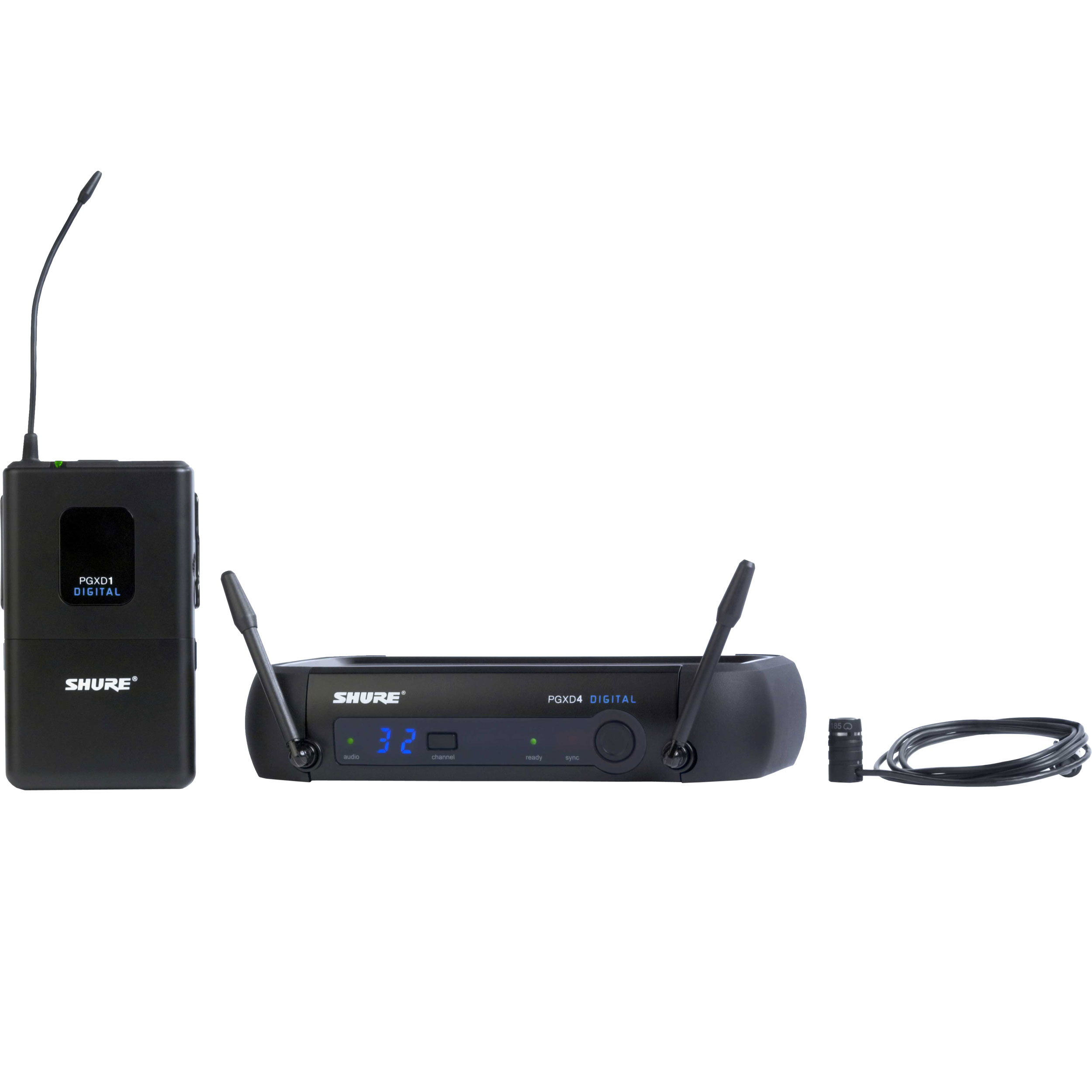 Shure Wireless System with WL 185 Lavalier Microphone
