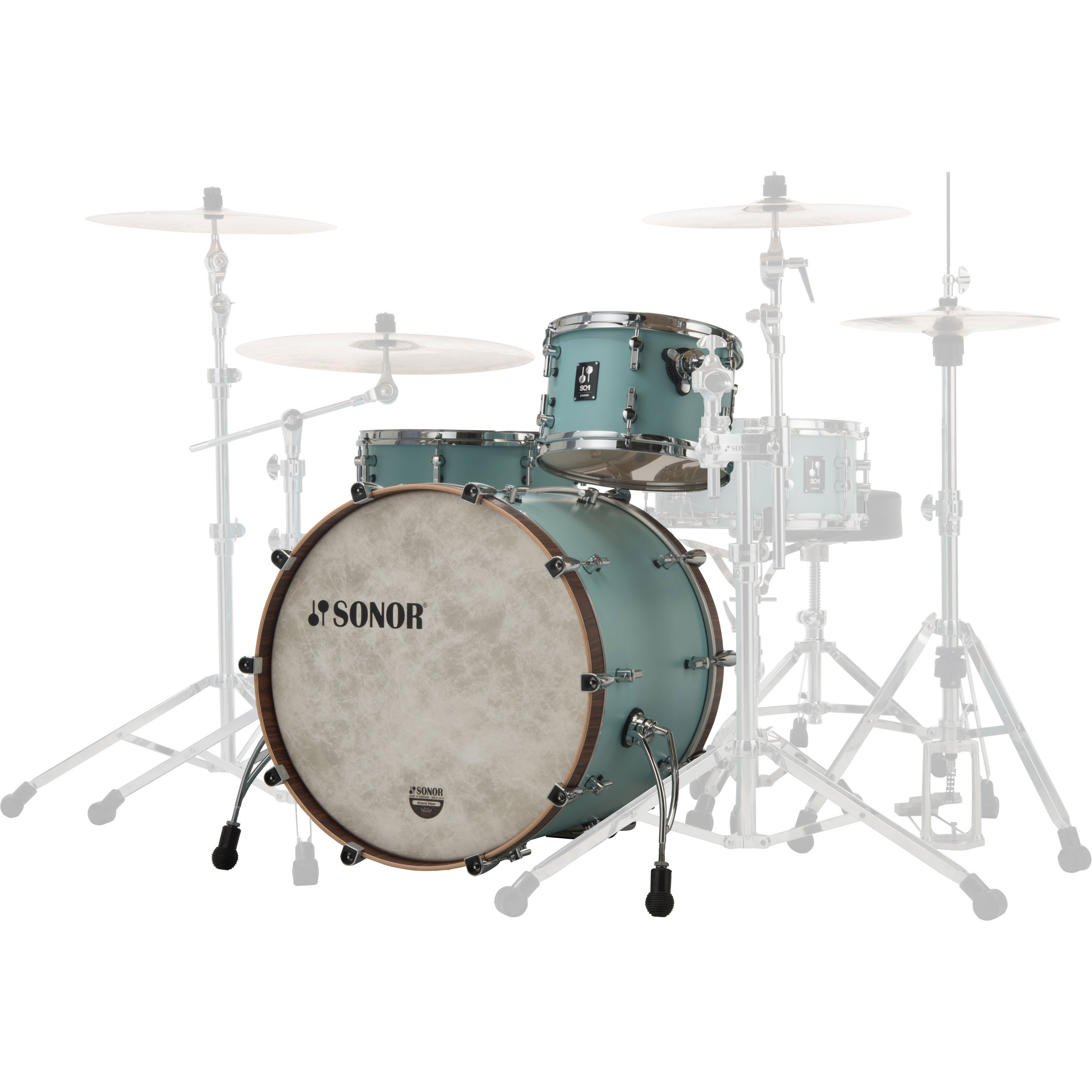 "Sonor SQ1 3-Piece Drum Set Shell Pack (20"" Bass, 12/14"" Toms)"