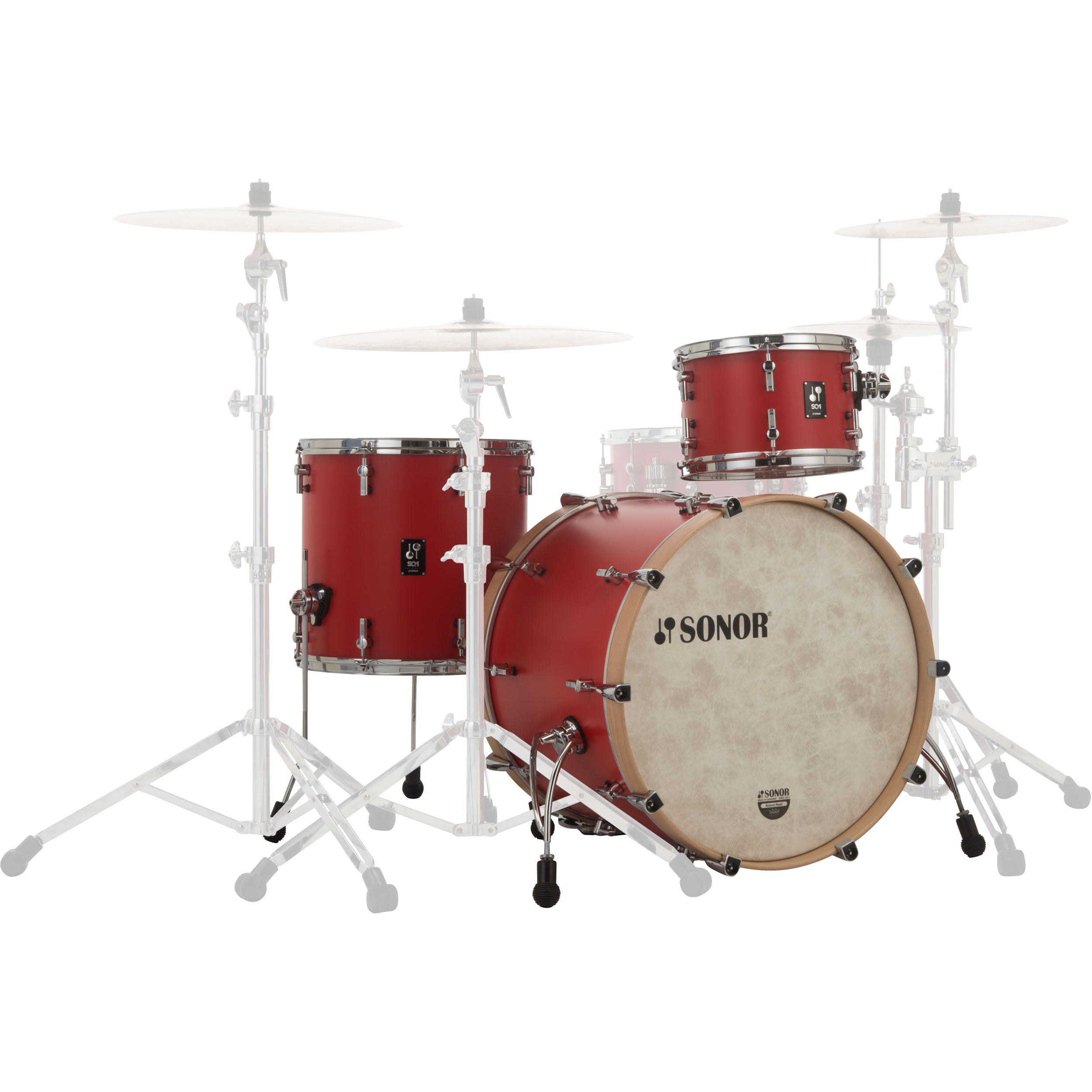 "Sonor SQ1 3-Piece Drum Set Shell Pack (22"" Bass, 12/16"" Toms)"