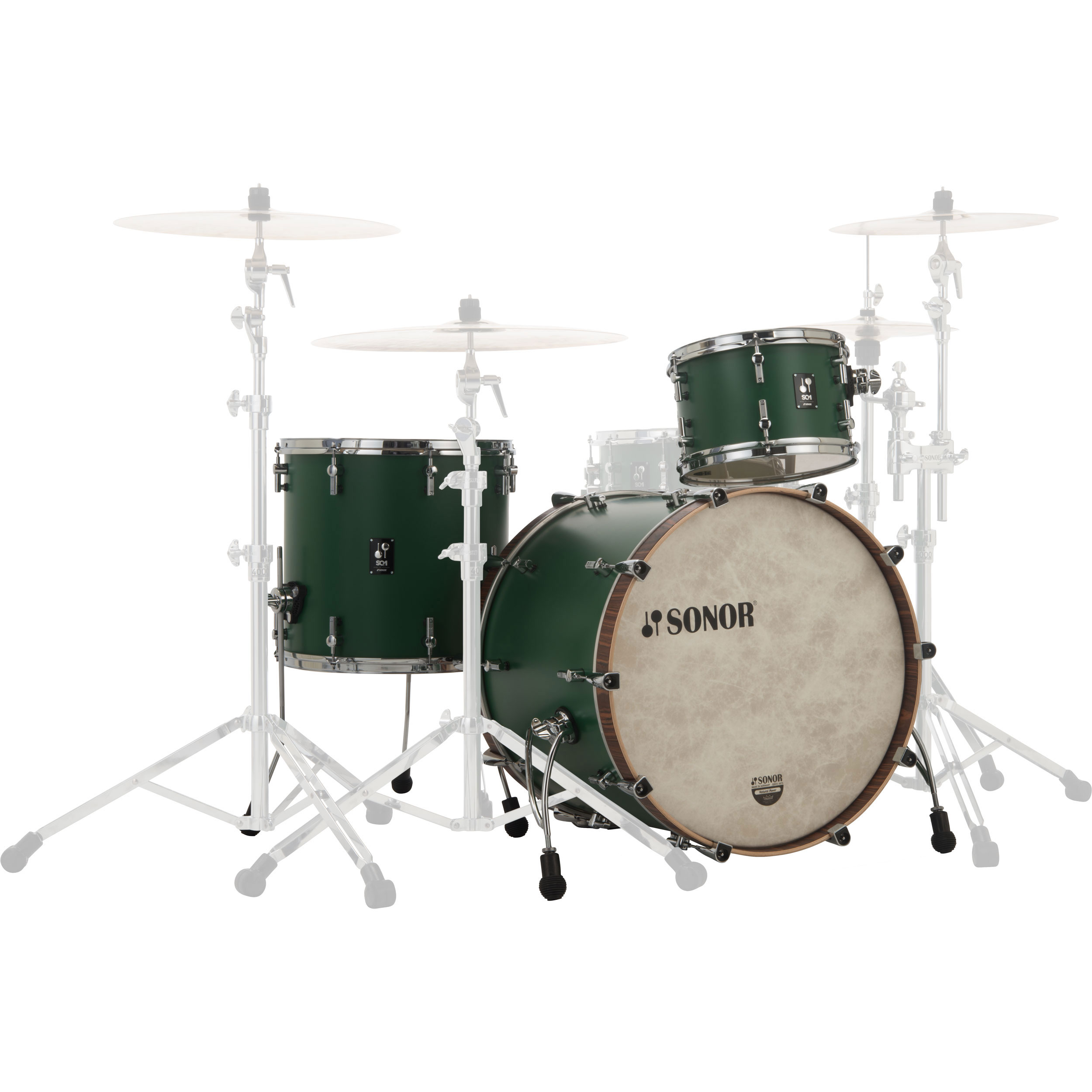 "Sonor SQ1 3-Piece Drum Set Shell Pack (24"" Bass, 13/16"" Toms)"