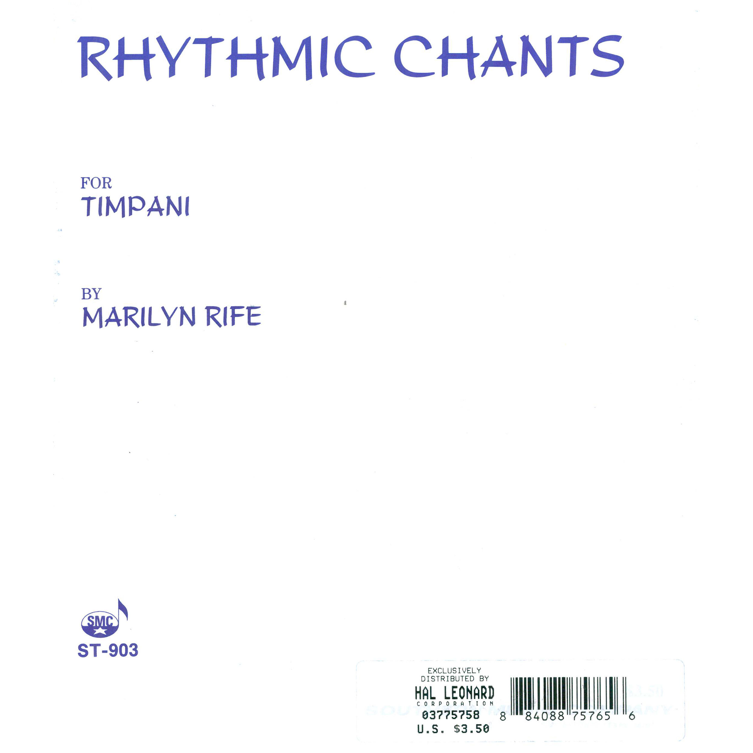 Rhythmic Chants for Timpani by Marilyn Rife