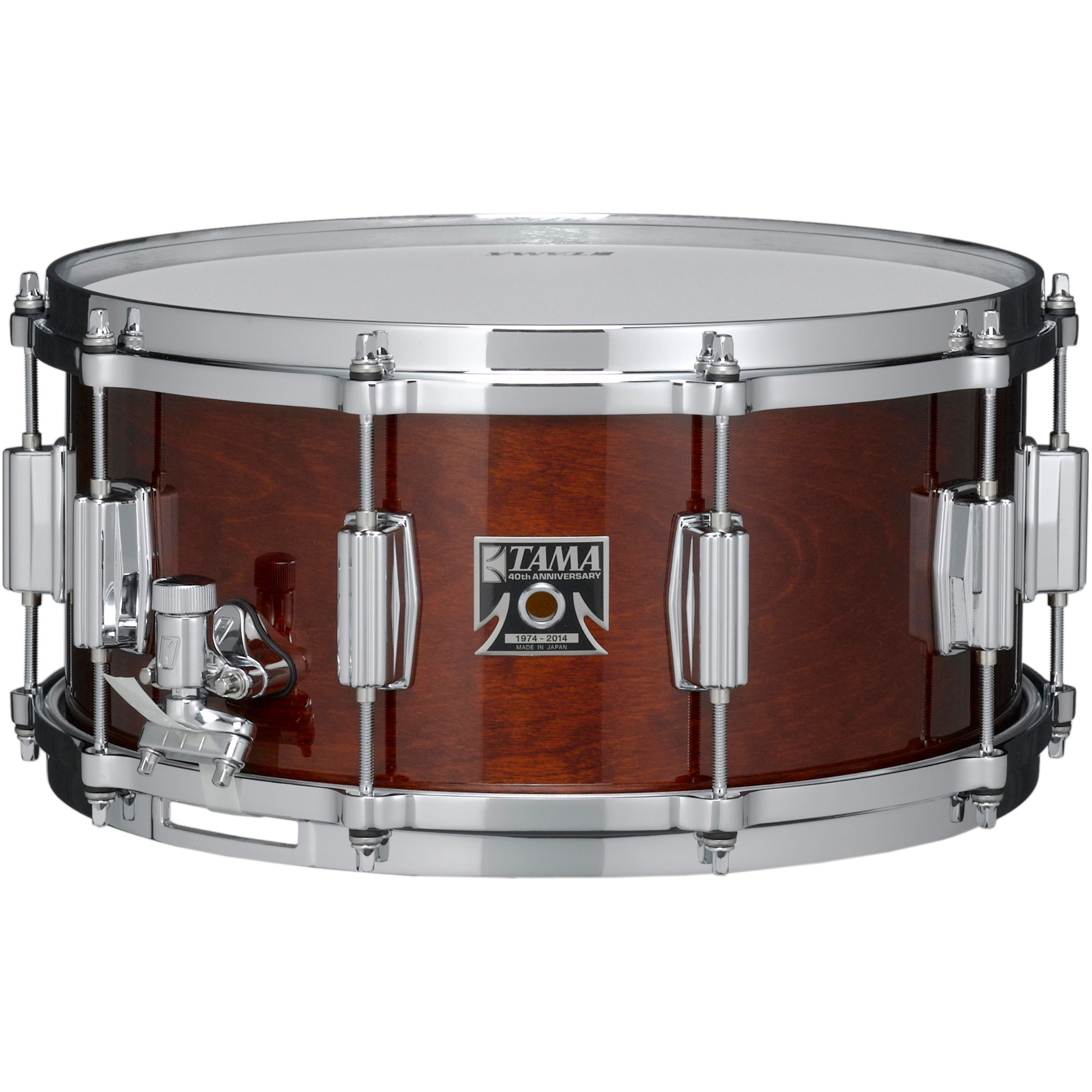 "Tama 14"" x 6.5"" 40th Anniversary Superstar Reissue Snare Drum in Super Mahogany"