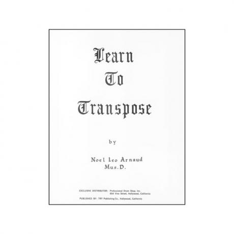 Learn to Transpose by Noel Leo Arnaud