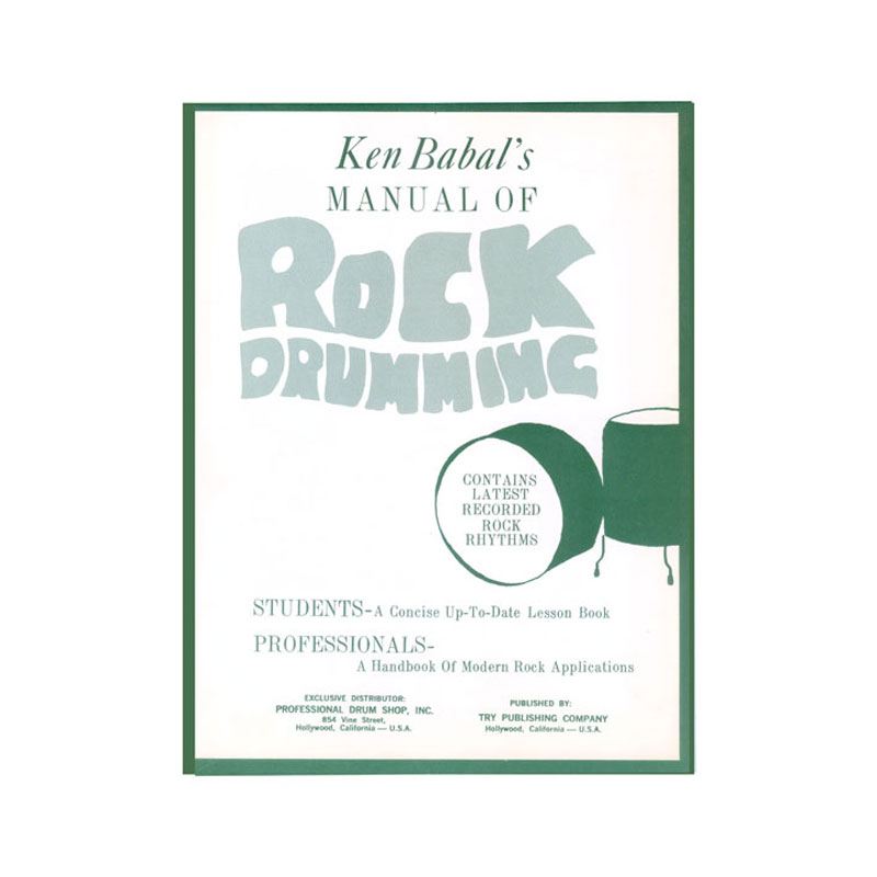 Manual of Rock Drumming by Ken Babal