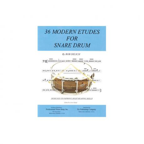 36 Modern Etudes for Snare Drum by Bob Delich