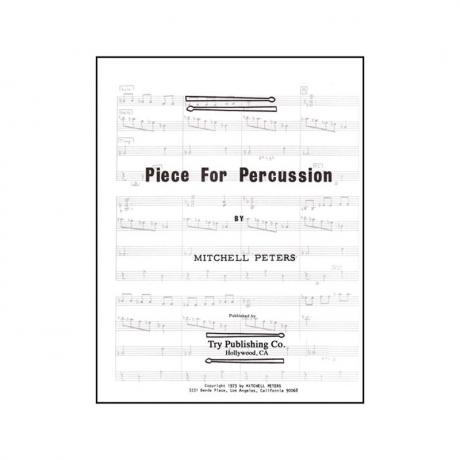 Piece for Percussion by Mitchell Peters