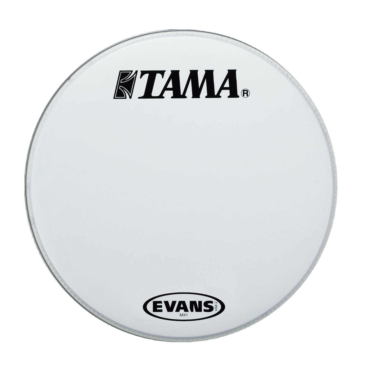 "Tama/Evans 30"" MX1 White Marching Bass Head"