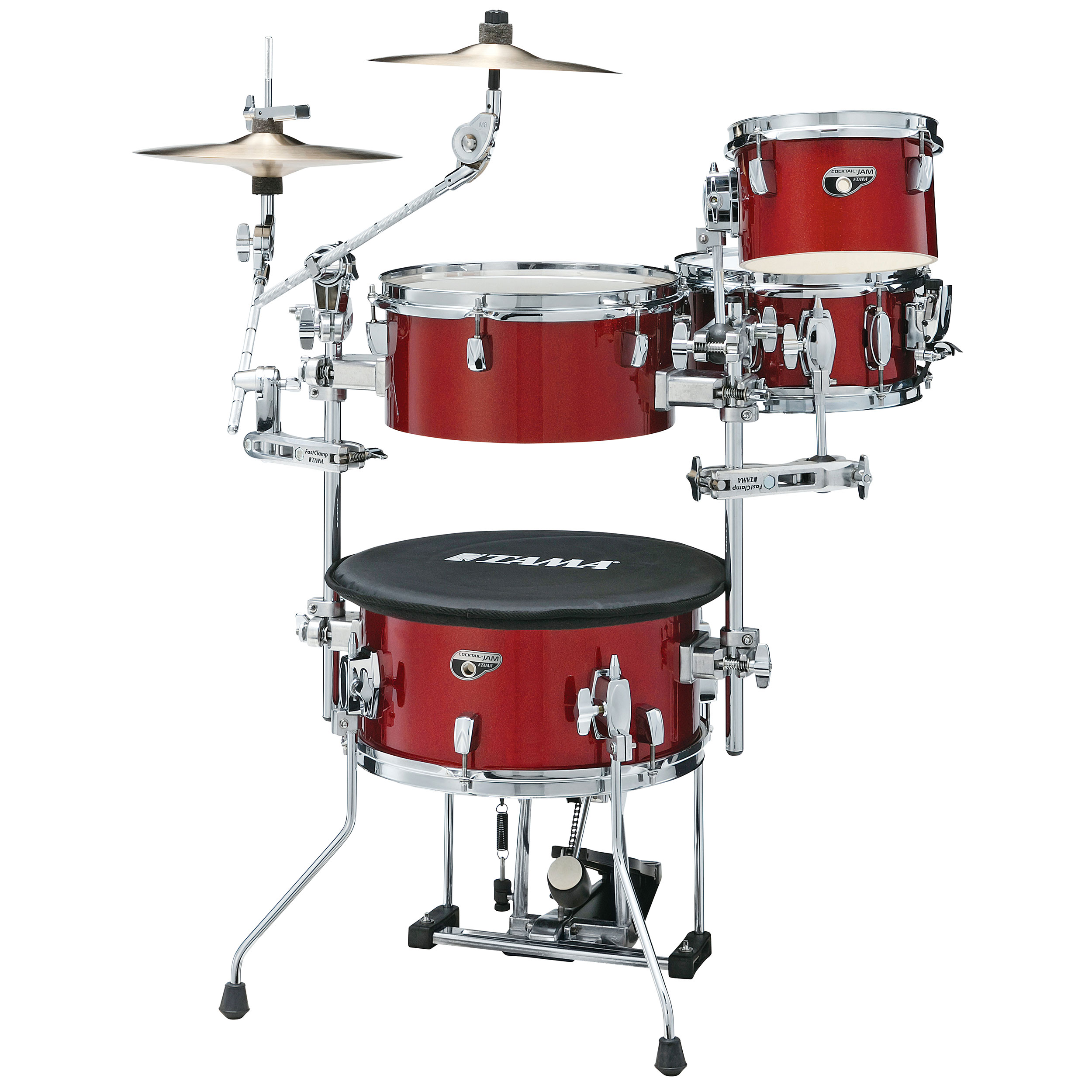 "Tama Cocktail-Jam Mini 4-Piece Drum Set Shell Pack (14"" Bass, 8/12"" Toms, 10"" Snare)"
