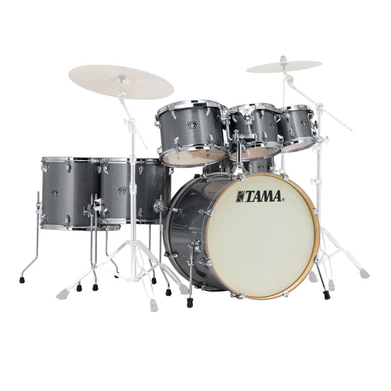 "Tama Superstar Classic 7-Piece Drum Set Shell Pack (22"" Bass, 8/10/12/14/16"" Toms, 14"" Snare) in Wrap Finish"